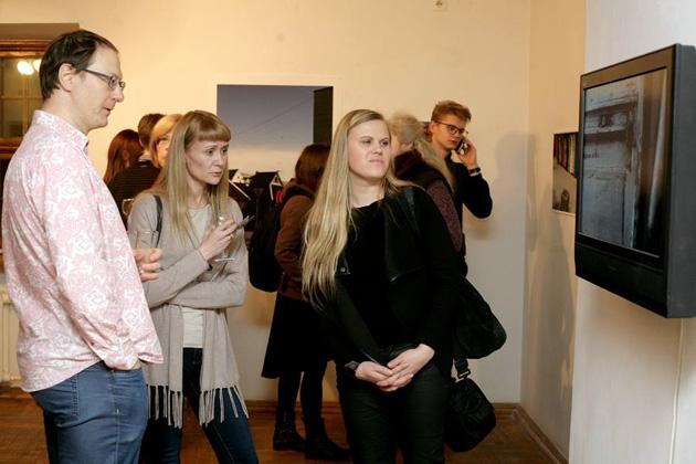 Izstādes atklāšana Fotomuzejā. Foto - Maira Dudareva