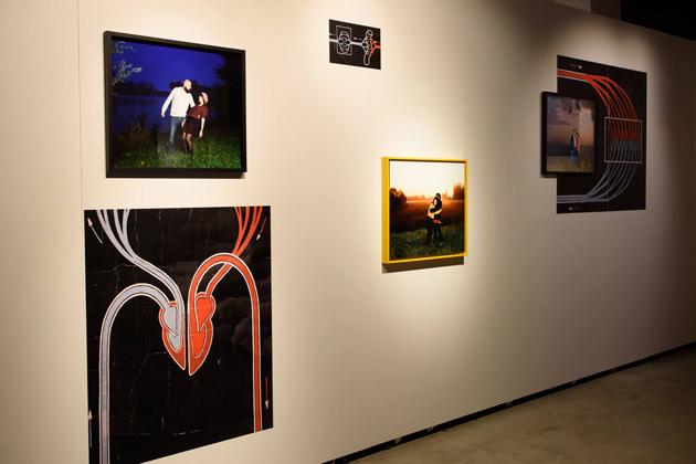 Skats no izstādes Rīgas Mākslas telpā. Foto - Gints Ivuškāns