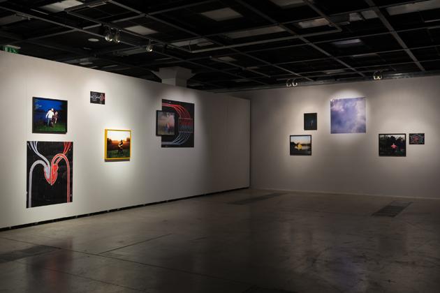 Skats no izstādes ar Natašas  Karuanas darbiem no sērijas ''No  pirmā skatiena''. Foto - Arns  Anskaitis