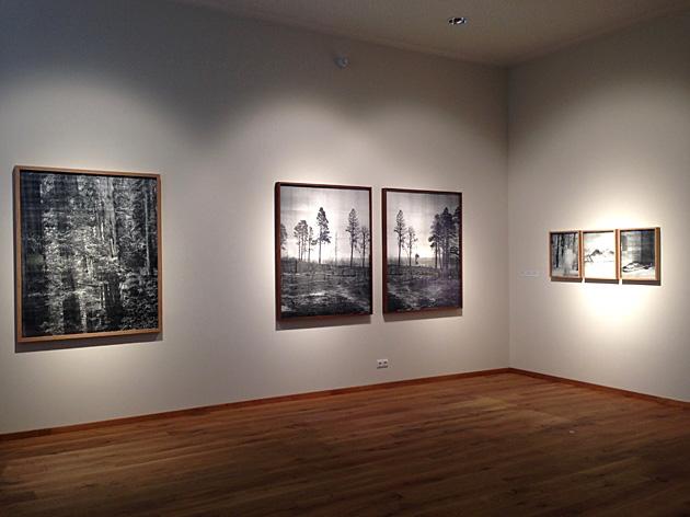"""Adama Jepesena darbi Antona Korbina kūrētajā izstādē """"Touched"""". Foto - Ieva Raudsepa"""