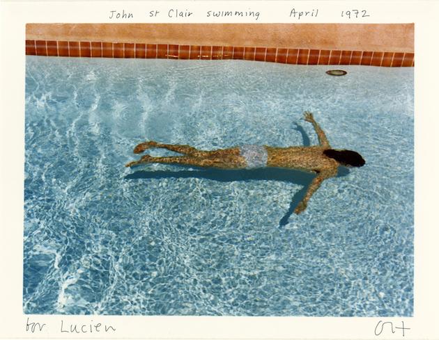 Foto - Deivids Hoknijs. <em>John St Clair Swimming</em>