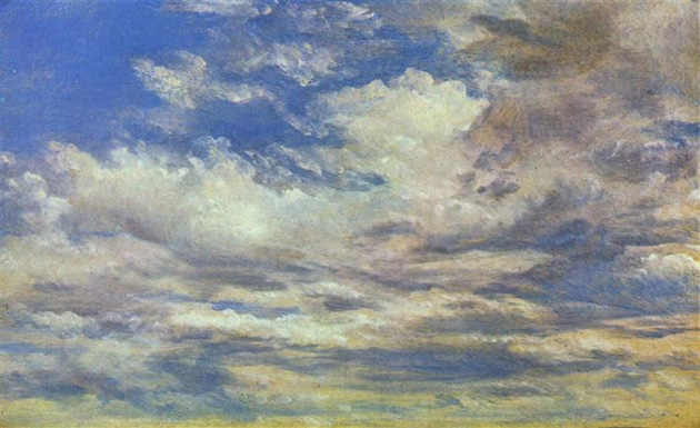 Džons Konstebls. Mākoņu studijas, 1822