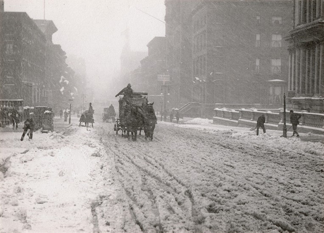 Alfreds Stiglics. Ziema Piektajā avēnijā, 1893