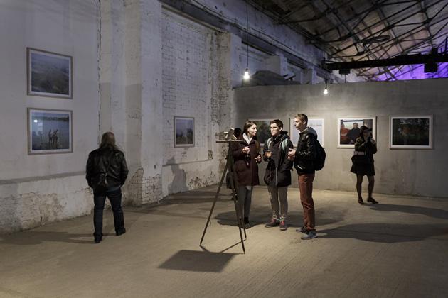 Skats no Andreja Strokina izstādes Minskas Fotomēnesī 2015. gadā. Foto - A. Strokins